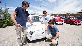 Foto de Alumnos del Colegio San Patricio convierten un Seat 600 en un vehículo eléctrico