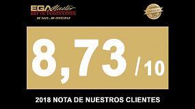 Foto de EGA Master recibe un 8,73 como nota en satisfacción global de clientes