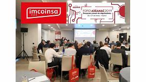 Foto de Imcoinsa participa en el encuentro anual de alquiladores Aseamac 2019