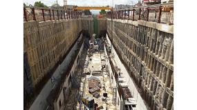Foto de Pantallas de contención del terreno para la excavación de la estación Mohamed Boudiaf en la prolongación del Metro de Argel