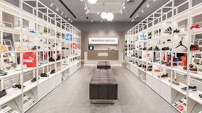 Foto de Hi-Macs Concrete aporta un look elegante y urbano a la nueva tienda GRID