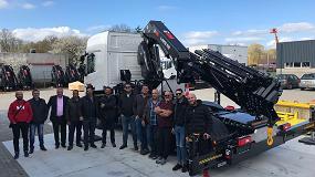 Foto de Clientes y colaboradores de Hiab en Canarias visitan el centro de montaje en Meppel