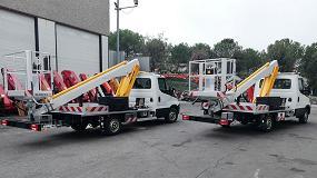 Foto de Transgrúas entrega dos plataformas Multitel Pagliero 160 ALU a la empresa de alquiler Kiloutou