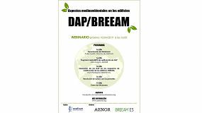 Foto de Asefave organiza un webinario sobre DAP y Breeam