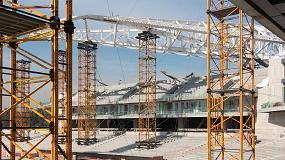 Foto de Ulma en el proyecto de construcción del Estadio de los Diablos Rojos en México