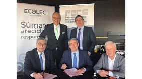 Foto de Ecolec y FECE confirman un año más su convenio de colaboración
