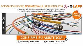 Foto de Lapp y UL organizan en Valencia y Manresa nuevas jornadas formativas sobre la NFPA79