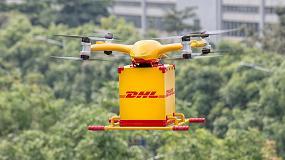 Foto de Vuelo inaugural del dron inteligente EHang Falcon para reparto urbano