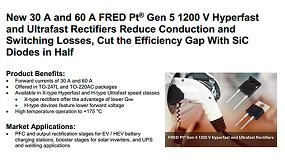 Foto de Nueva generación 5 de rectificadores ultrarrápidos, 1200V y 30A o 60A