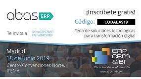 Foto de abas ERP, presente en la feria ERP, CRM & BI de Madrid