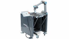 Foto de Mesas de trabajo para carga y descarga de centros de mecanizado con cobots UR