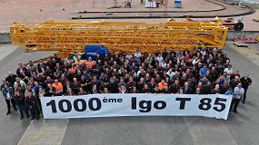 Foto de Manitowoc suministra la unidad 1000 de su grúa Igo T 85