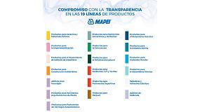Foto de Mapei renueva su compromiso con la transparencia