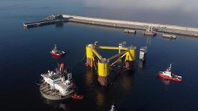 Foto de Comienza el ensamblaje de las turbinas del proyecto Windfloat Atlantic, en el que participa Repsol