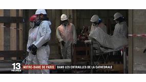 Foto de Juba, presente en la reconstrucción de Notre-Dame de París