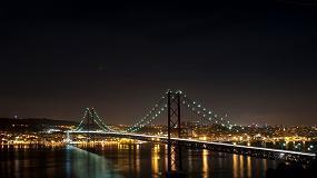 Foto de Maior eficiência e qualidade de iluminação na ponte 25 de abril