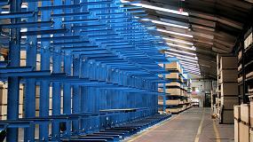Foto de Fabricados Reyna aumenta un 50% su capacidad de almacenamiento con estanterías cantiléver