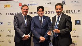 Foto de Juan Antonio Gómez-Pintado, presidente de Asprima y APCE, recibe un reconocimiento por su estímulo e impulso al sector de la edificación