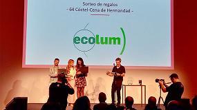 Foto de Ecolum Recyclia patrocinador destacado de la 64 Cena de Hermandad de Apiem