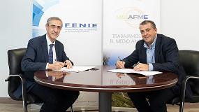 Foto de Ambilamp y Fenie firman un convenio anual para fomentar el reciclaje de aparatos eléctricos entre las empresas instaladoras