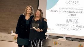 Foto de Laboratorios Quinton, Premio Ocare por la mejor 'Campaña de Comunicación de RSC de contenido laboral'