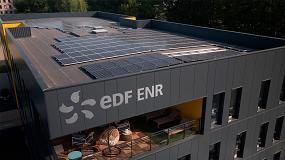 Foto de Sistema de fijación de paneles solares Renolit Alkorsolar en la sede de EDF en Lion
