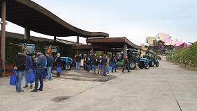 Foto de Presentación de los tractores Rex 4 de Landini en la bodega Marqués de Riscal