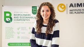 Foto de Entrevista a Elena Domínguez, investigadora de Aimplas y coordinadora de la jornada VII International Seminar Biopolymers and Sustainable Composites