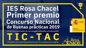 Foto de IES Rosa Chacel, premiado en el Concurso Nacional de Buenas Prácticas 2019 en el uso y aplicación de tecnologías a la educación