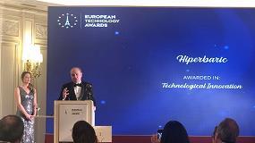 Foto de Hiperbaric recibe el premio European Technology Award en la categoría Innovación Tecnológica