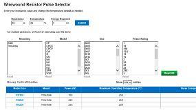 Foto de Vishay Fast Facts Pulse Selector Tool