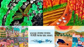 Foto de Tres niñas de Granada, Palencia y Jaén ganan el XXIII Certamen de Pintura Fertiberia