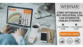Foto de Lapp organiza un webinar sobre cómo optimizar una red industrial con los diferentes cables Ethernet