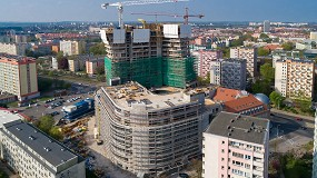 Foto de Ulma ofrece un alto rendimiento y seguridad en el proyecto de construcción de la Torre Hanza, Polonia