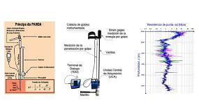 Foto de Aplicación del penetrómetro Panda para control de compactación en la arena de miga de Madrid