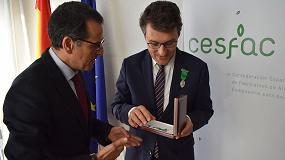 Foto de Cesfac galardona a Fernando Miranda con la Medalla al Mérito en Alimentación Animal