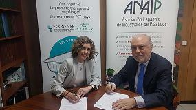 Foto de Anaip y la Fundación Plastic Sense firman un convenio para promocionar del reciclaje