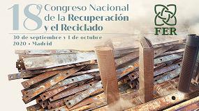 Foto de FER aplaza el 18º Congreso Nacional de la Recuperación y el Reciclajepor el COVID-19