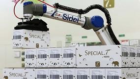 Foto de Nestlé en la Industria 4.0, paletizado de calidad con el cobot de Sidel