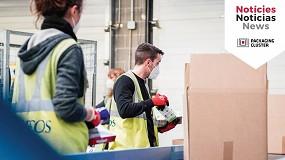 Foto de Los socios del Packaging Cluster distribuyen 20.000 lotes de productos alimentarios