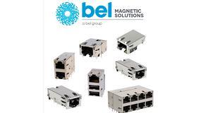 Foto de Conectores RJ45 con transformadores integrados para la tecnología 5G