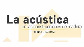Foto de Profusta organiza un curso online sobre la acústica en las construcciones de madera