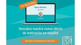 Foto de Klaes lanza su nueva oferta de webinarios en español