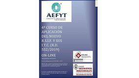 Foto de Nueva convocatoria del curso de Aefyt sobre 'Aplicación del nuevo RSIF y sus ITCs', en colaboración con Aviclima e IICV