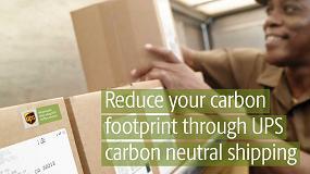 Foto de UPS contrarresta la huella ecológica de sus envíos en junio
