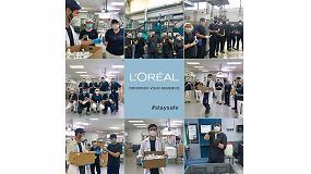 Foto de Virospack agradece a L'Oréal su contribución en la protección de sus empleados