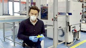 Foto de Las válvulas de las máscaras respiratorias de Oldrati, producidas en una inyectora Wittmann Battenfeld