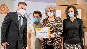 Foto de Aitex dona batas sanitarias y mascarillas higiénicas reutilizables a hospitales, Cruz Roja y Cáritas