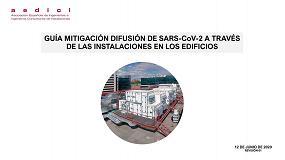 Foto de Aedici elabora la guía 'Mitigación difusión de SARS-COV-2 a través de las instalaciones en los edificios'