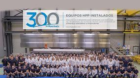 Foto de Hiperbaric instala su máquina 300 de HPP en la Planta procesadora Calavo Growers